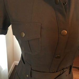 Calvin Klein olive military detail dress size 4